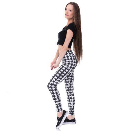 legging amincissant noir et blanc
